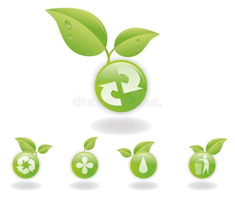 Recicl teclas ilustração royalty free