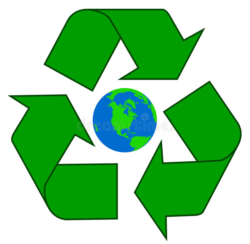Recicl a terra ilustração do vetor