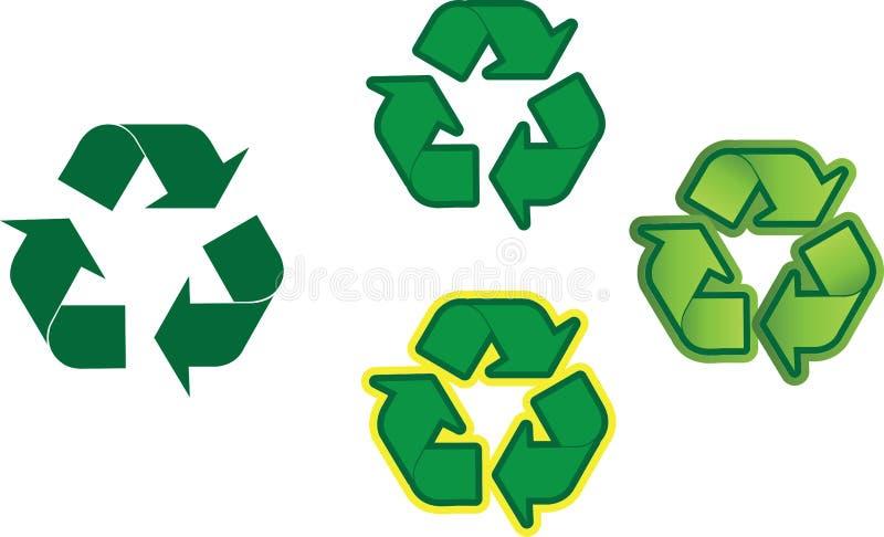 Reciclagem ilustração stock