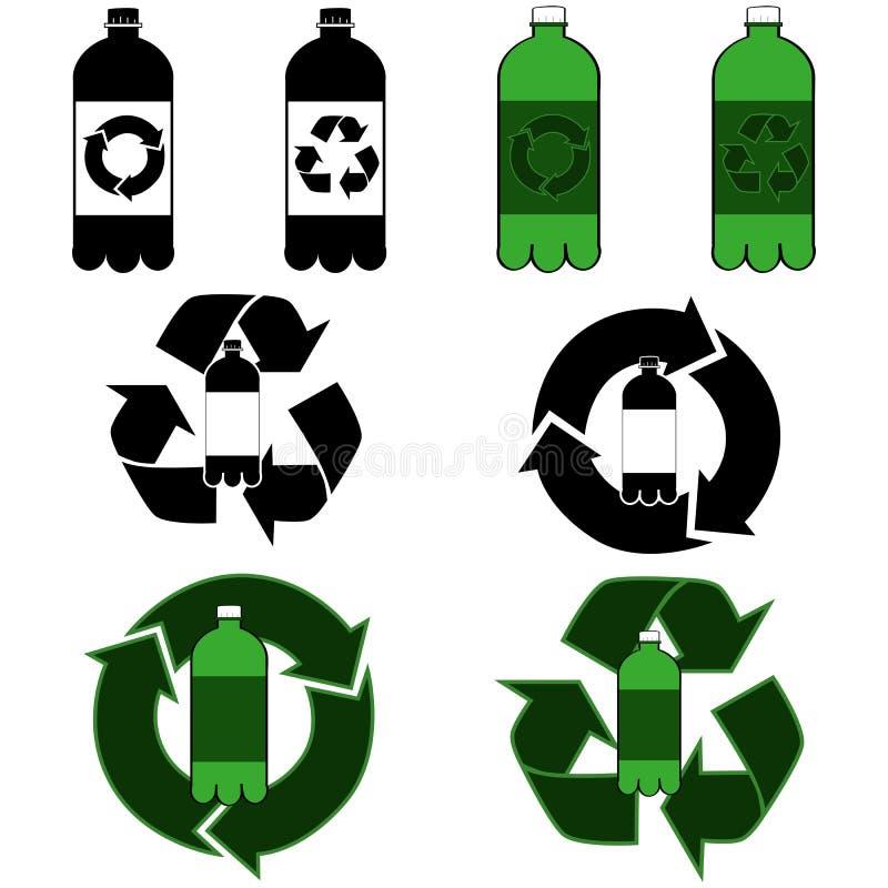 Reciclagem da garrafa ilustração royalty free
