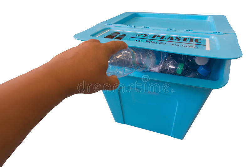 Reciclagem do lixo imagem de stock