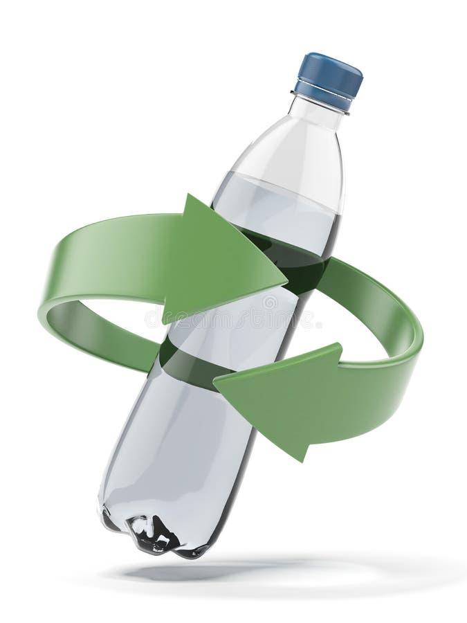Reciclagem plástica da garrafa ilustração do vetor