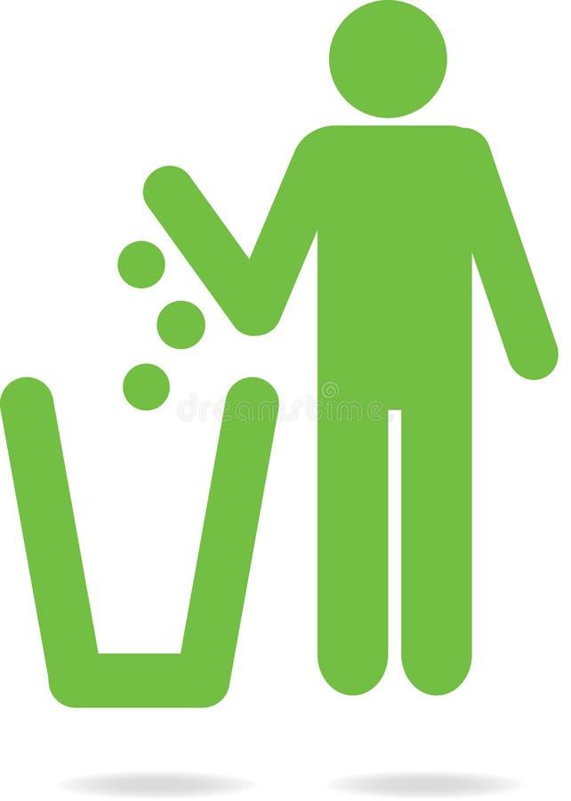 reciclaje stock de ilustración