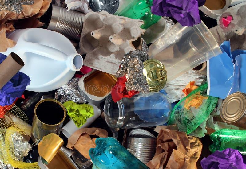 Reciclaje de la basura foto de archivo libre de regalías