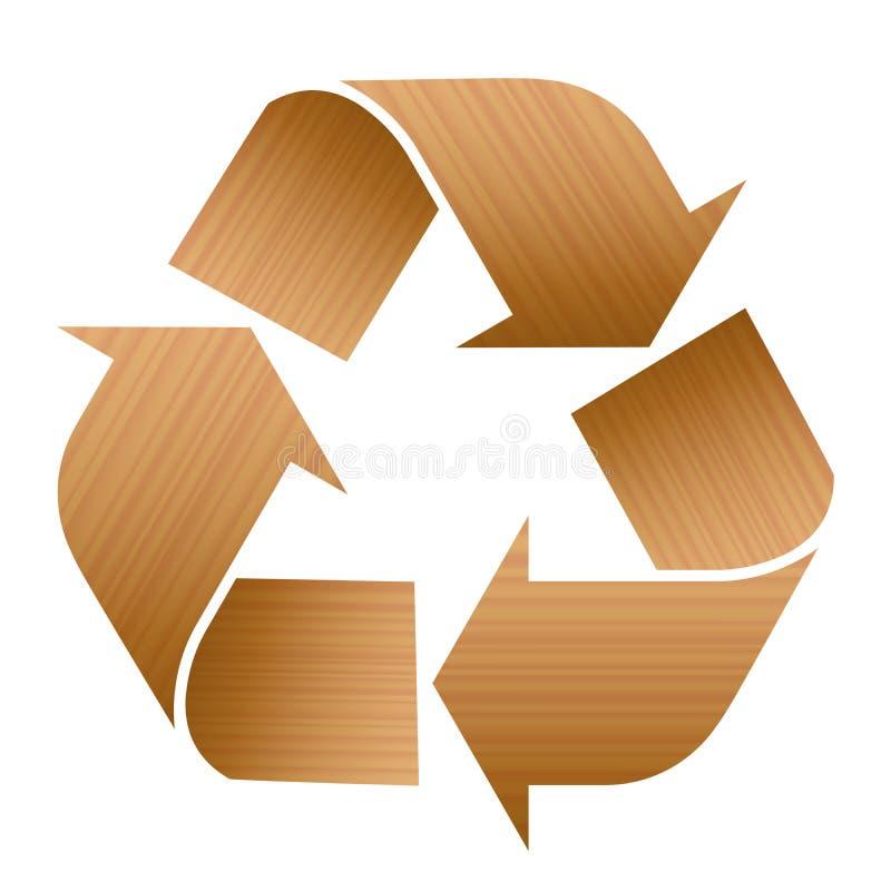 Reciclaje de la textura de madera del s mbolo ilustraci n - Reciclaje de la madera ...