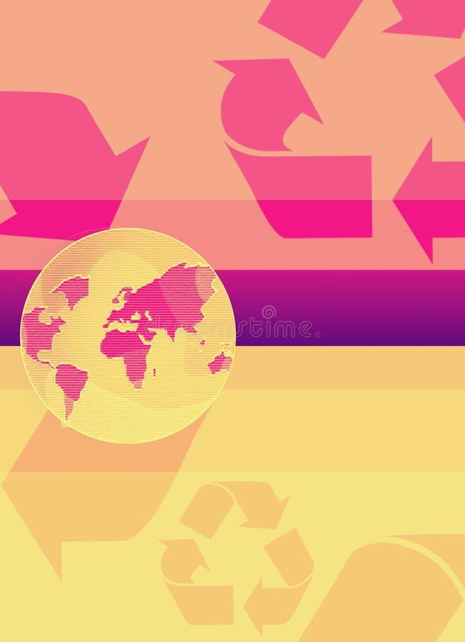Reciclaje de la tierra stock de ilustración