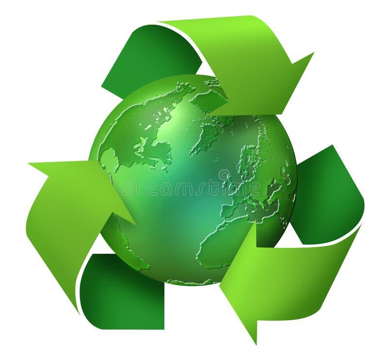 Reciclaje de la tierra verde ilustración del vector