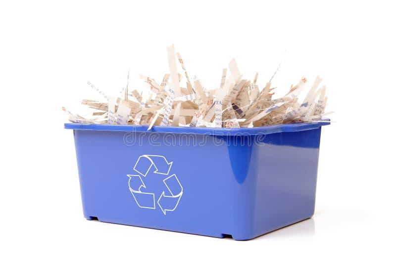 Reciclaje de papel imagen de archivo
