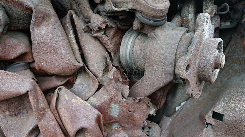 Reciclaje de piezas del coche imagenes de archivo