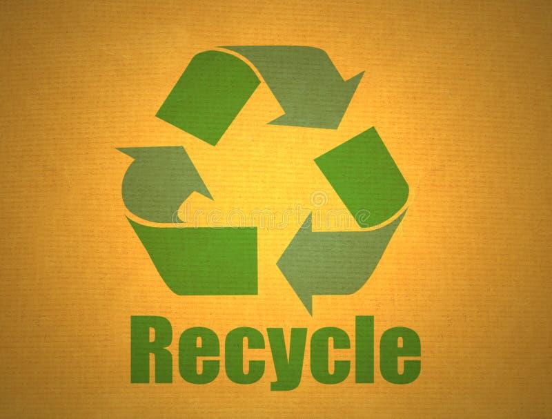 Reciclaje de símbolo en la cartulina imagenes de archivo