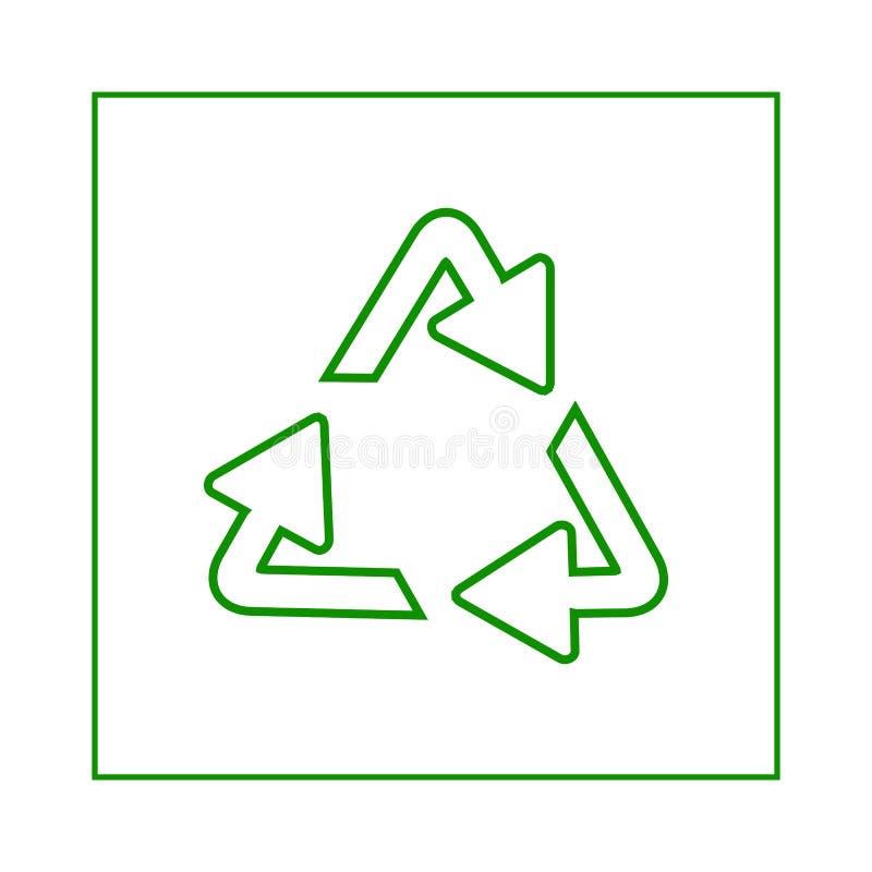 Reciclaje de s?mbolo de fondos ecol?gicamente puros, sistema de flechas ilustración del vector