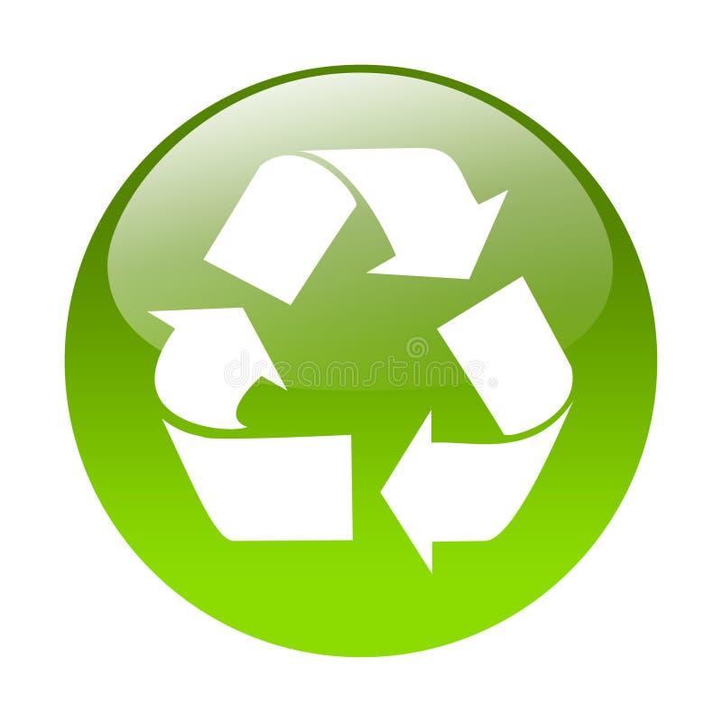 Reciclaje del botón stock de ilustración