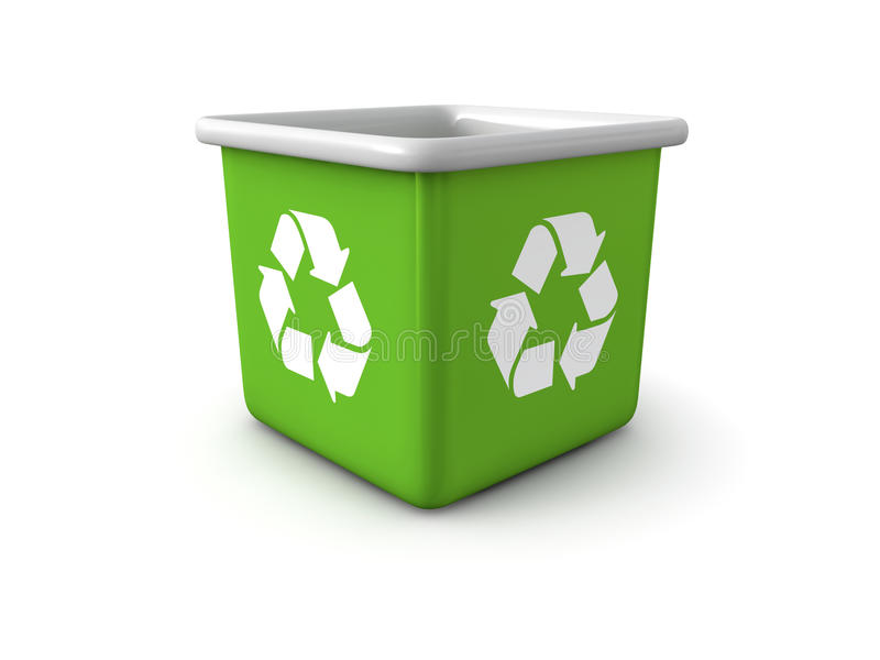 Reciclaje del bote de basura libre illustration