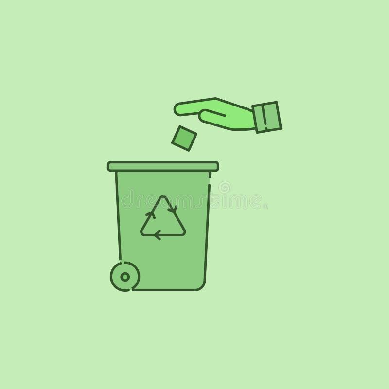 Reciclaje del icono de centro stock de ilustración
