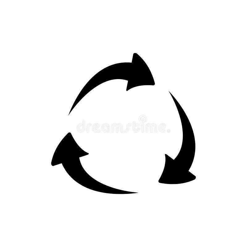Reciclaje del icono ejemplo del vector - vector stock de ilustración