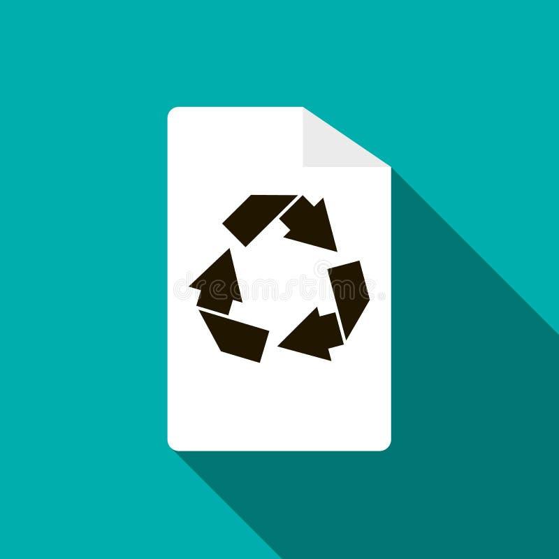 Reciclaje del icono, estilo plano ilustración del vector