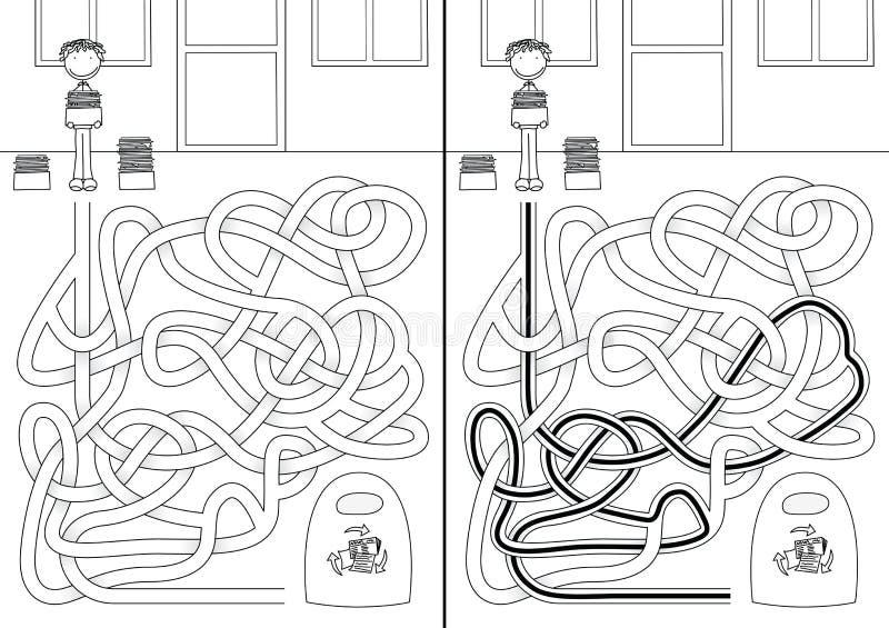 Reciclaje del laberinto ilustración del vector. Ilustración de ...