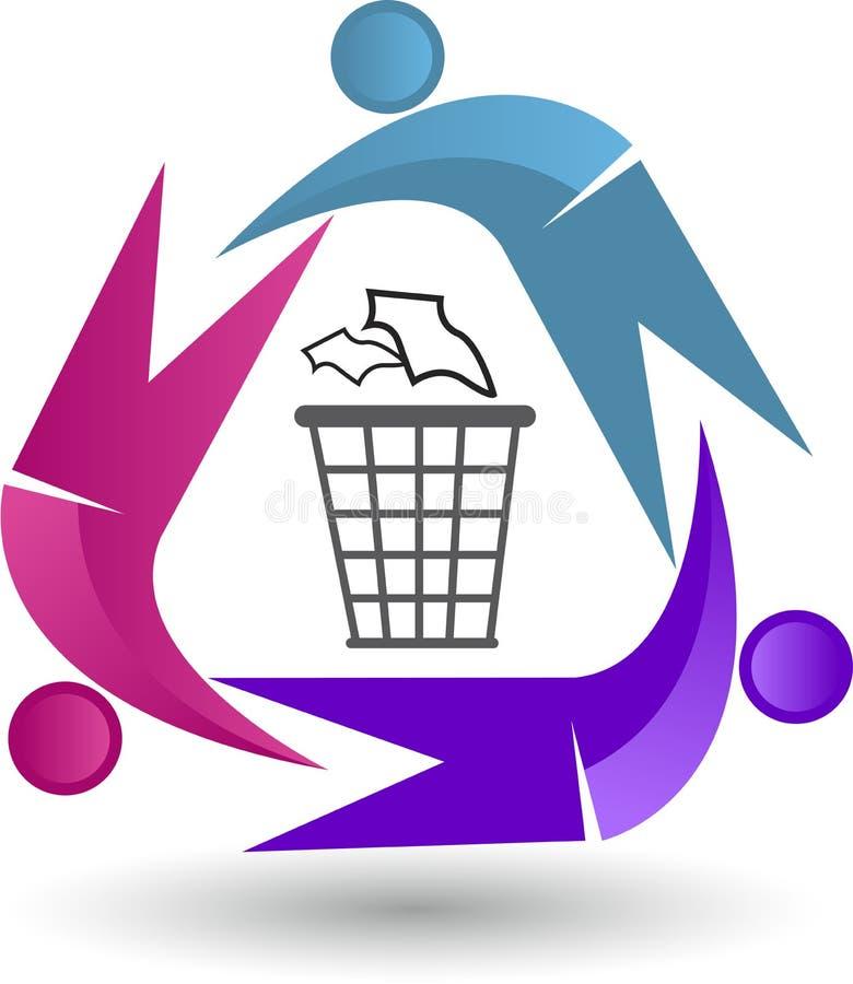 Reciclaje del logotipo libre illustration