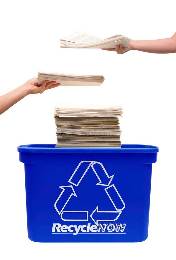 Reciclaje del papel foto de archivo libre de regalías