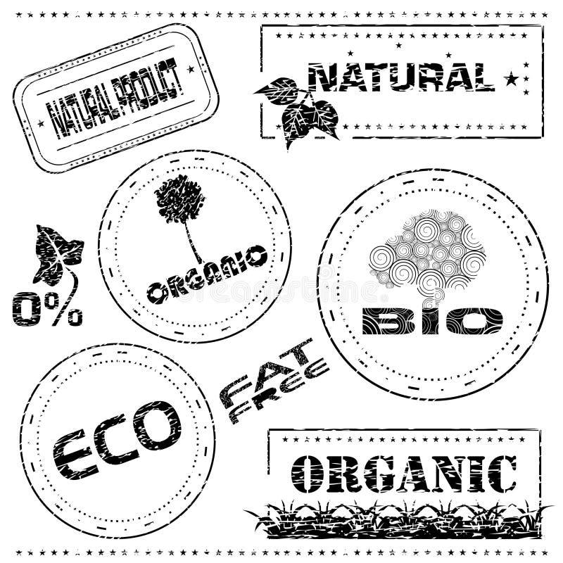 Reciclaje del sello de goma ilustración del vector