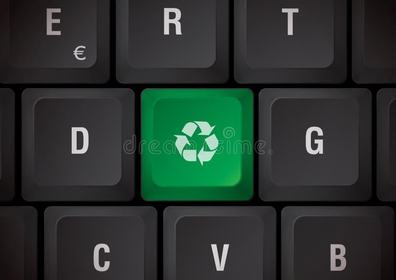 Reciclaje del teclado stock de ilustración