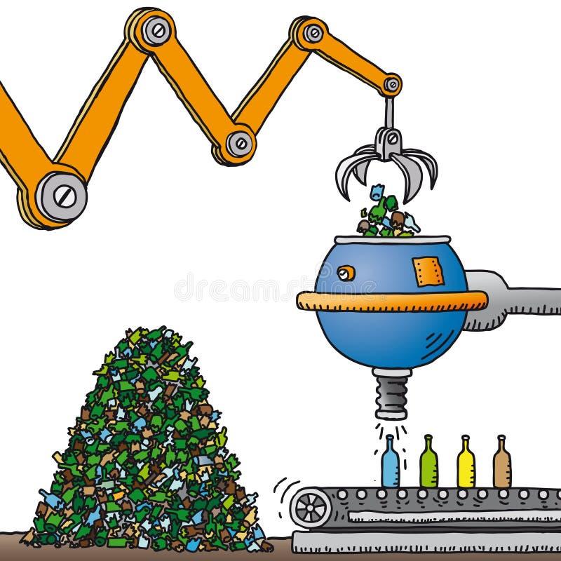 Reciclaje del vidrio (vector) libre illustration