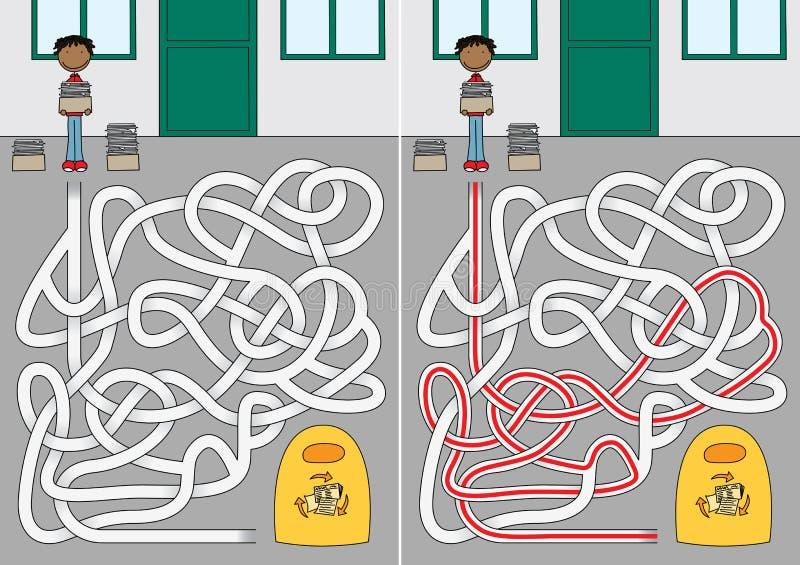 Reciclando o labirinto ilustração royalty free