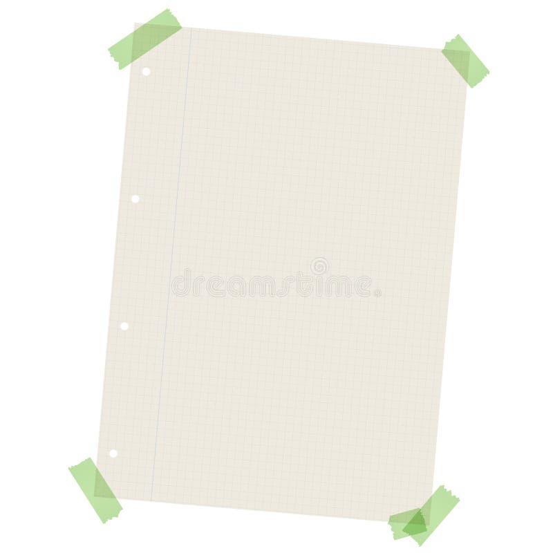 Reciclando o papel quadriculado com fita colorida ilustração do vetor