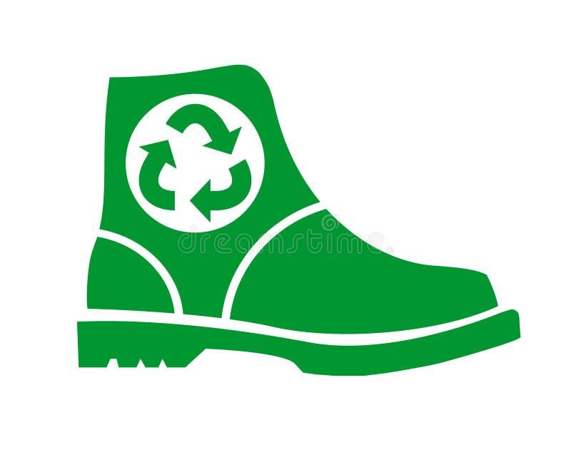 Reciclando sapatas Logotipo liso do vetor, ícone, sinal ilustração do vetor