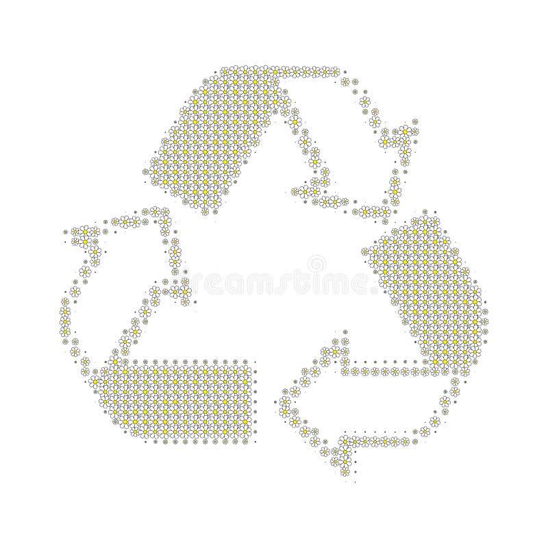 Recicle el blanco foto de archivo libre de regalías