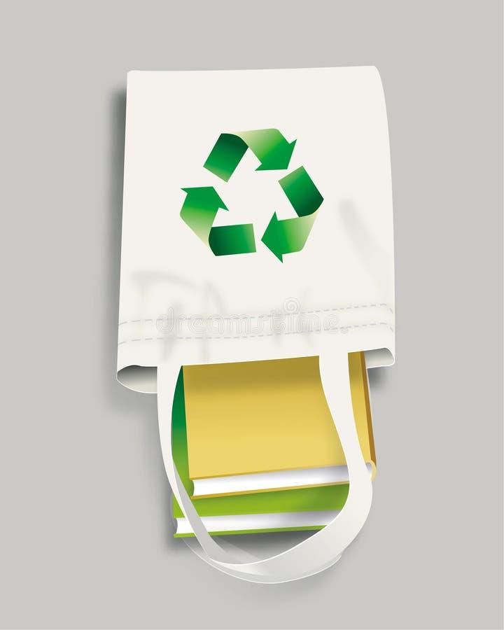 Recicle el bolso stock de ilustración