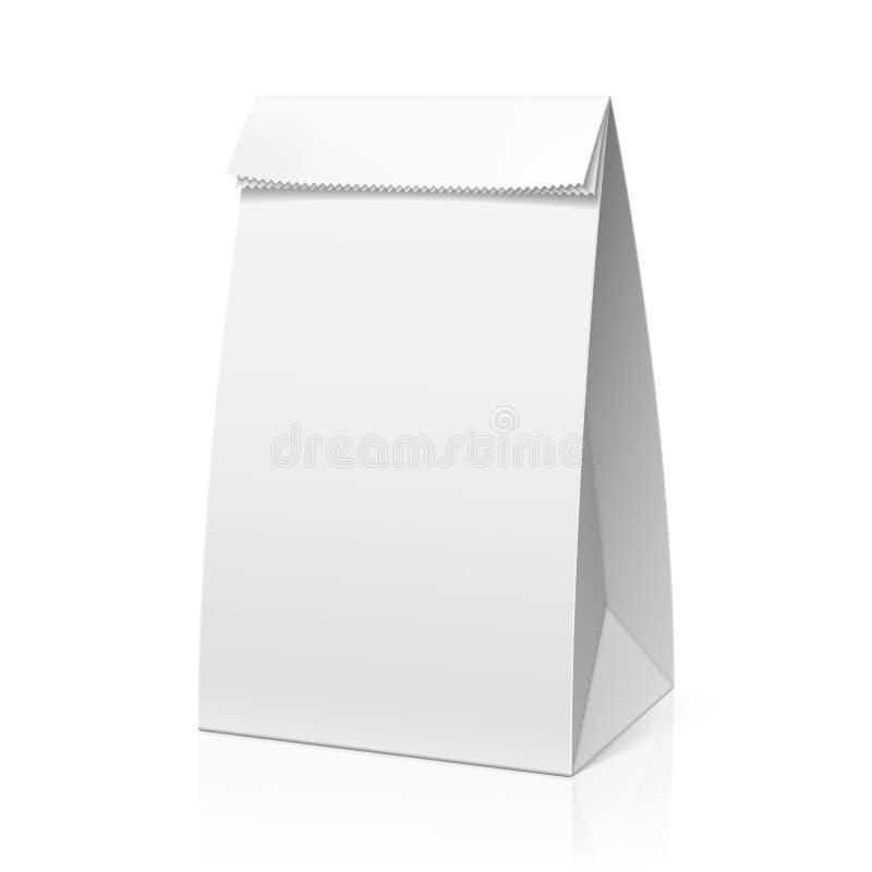 Recicle el bolso del Libro Blanco ilustración del vector