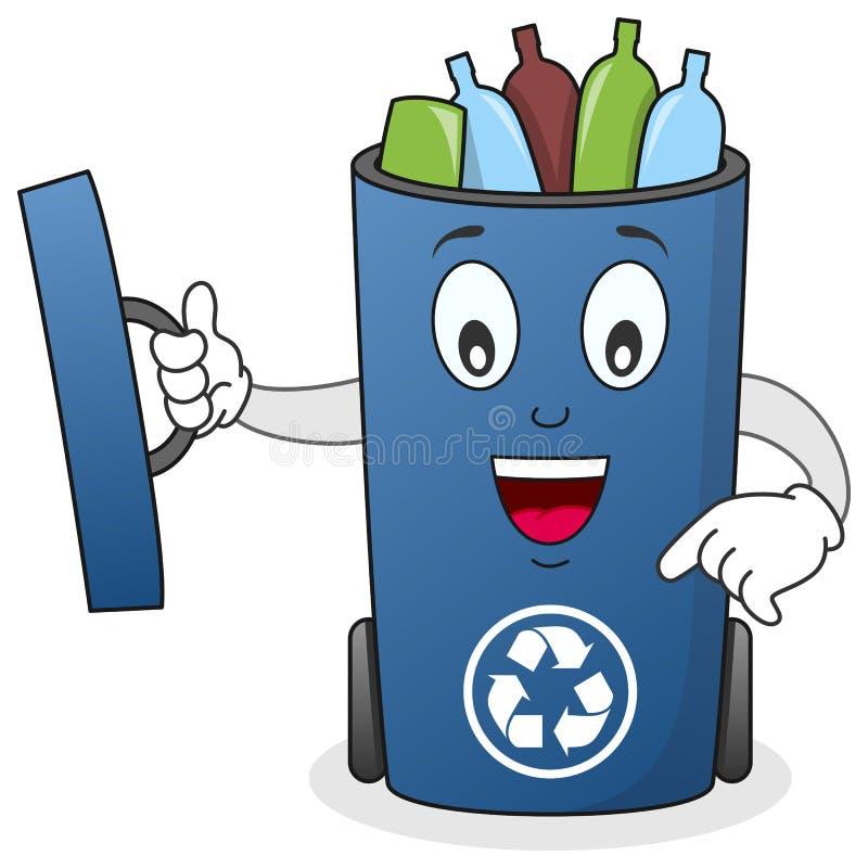 Recicle El Carácter Del Cubo De La Basura Fotografía de archivo