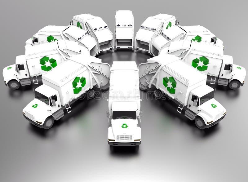 Recicle el concepto de la flota ilustración del vector