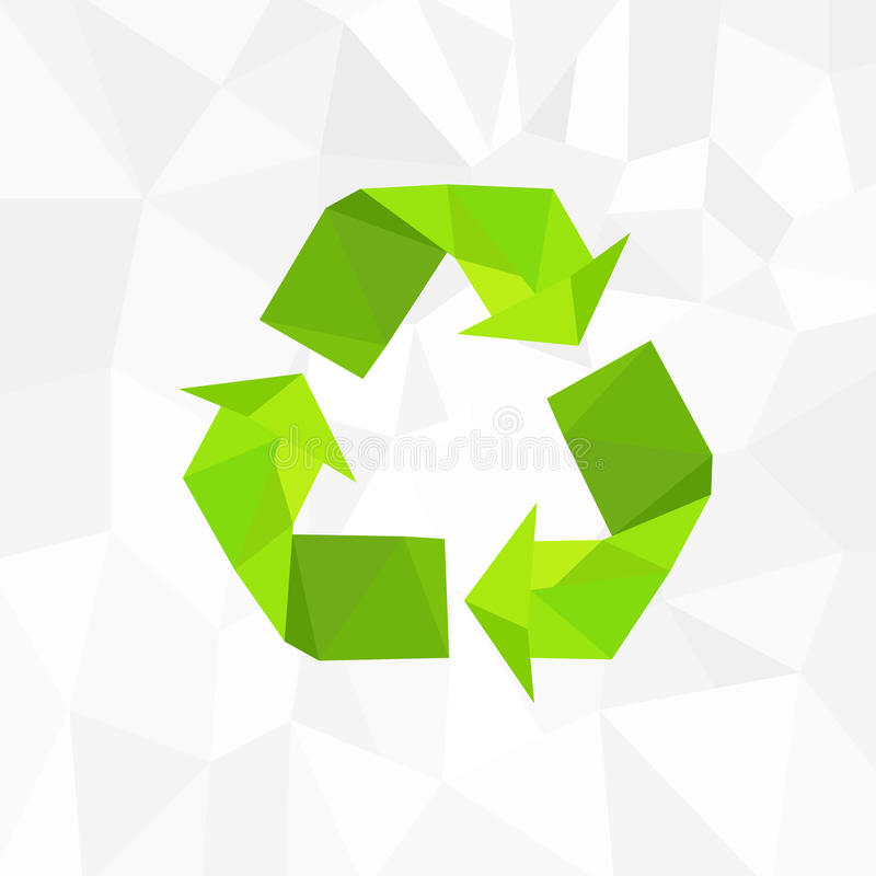 Recicle el estilo del triángulo del polígono del icono del logotipo del símbolo libre illustration