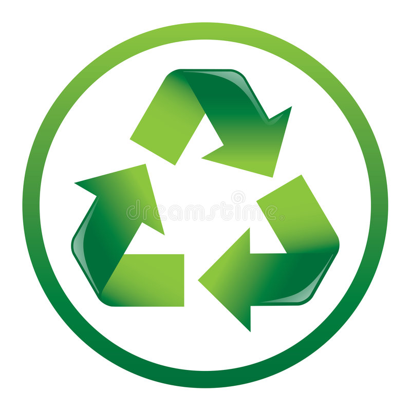 Recicle el icono de las flechas foto de archivo