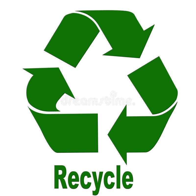 Recicle el letrero fotografía de archivo