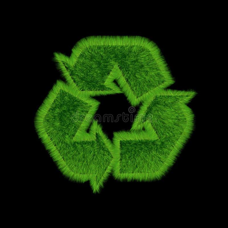 Recicle el negro de la hierba stock de ilustración