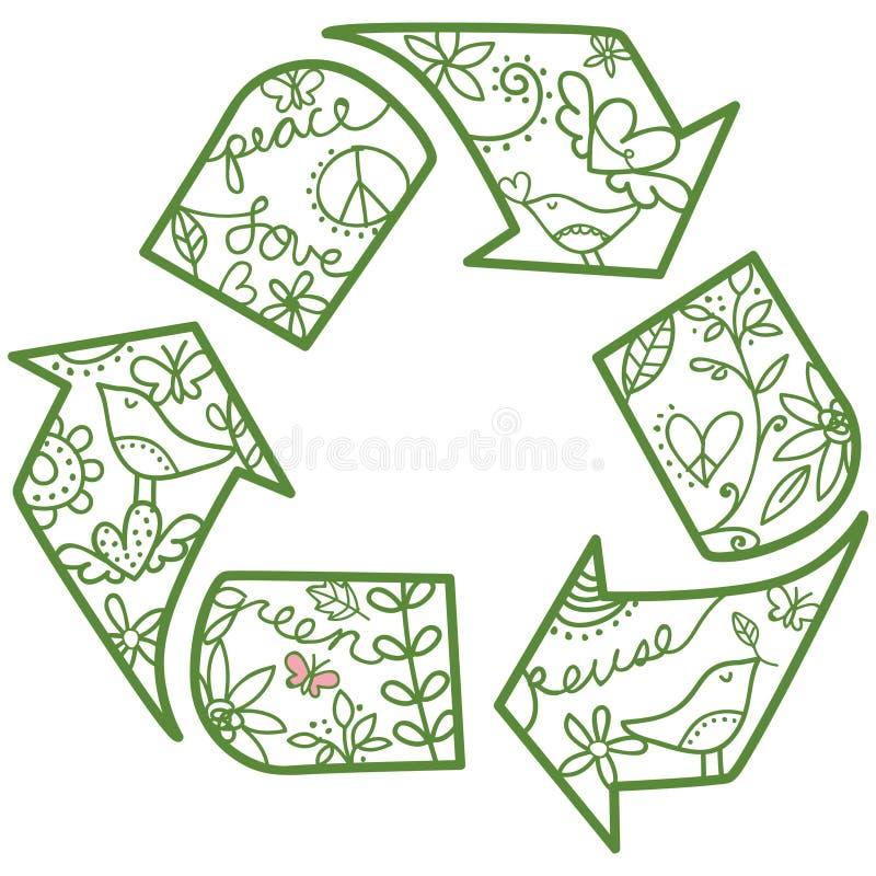 Recicle el símbolo ilustración del vector