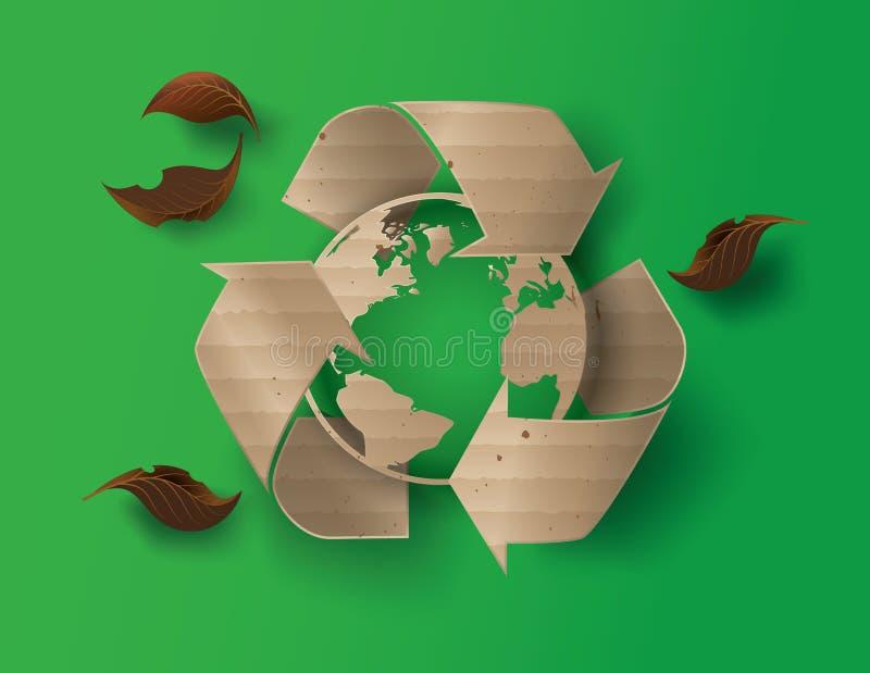 Recicle el símbolo o la muestra de la protección ilustración del vector