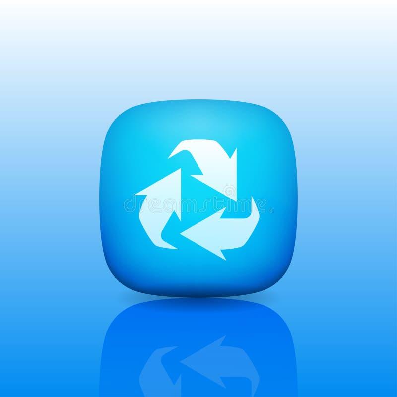 Recicle el símbolo o la muestra del icono de la protección stock de ilustración