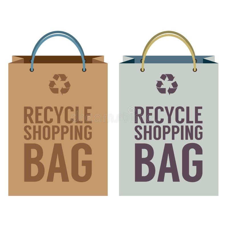Recicle la bolsa de papel libre illustration