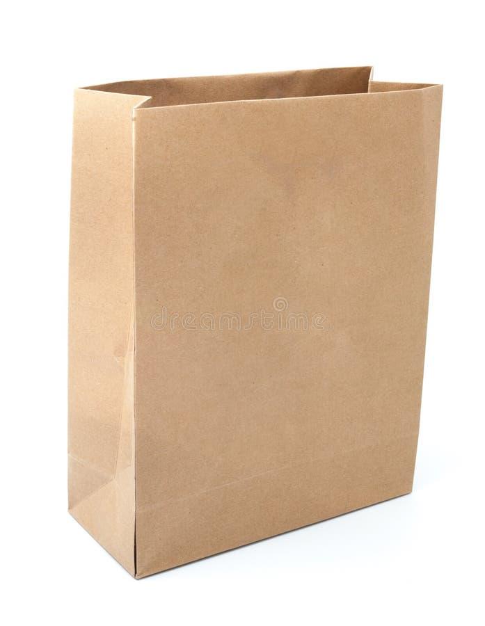 Recicle la bolsa de papel marrón aislada foto de archivo libre de regalías