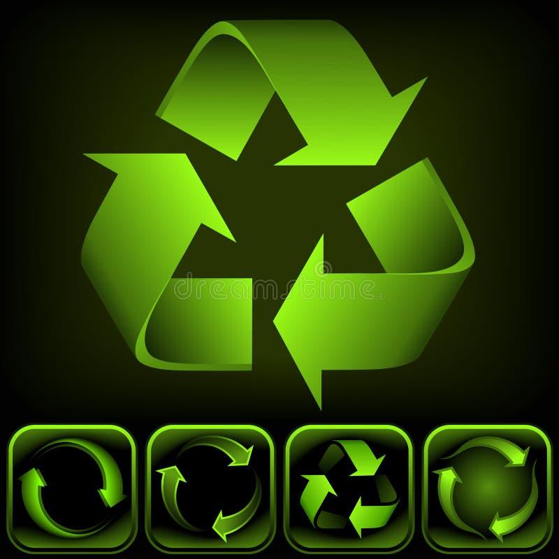 Recicle la insignia ilustración del vector