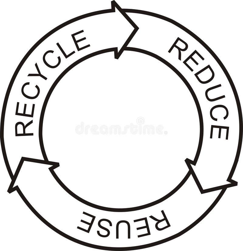 Recicle la insignia foto de archivo
