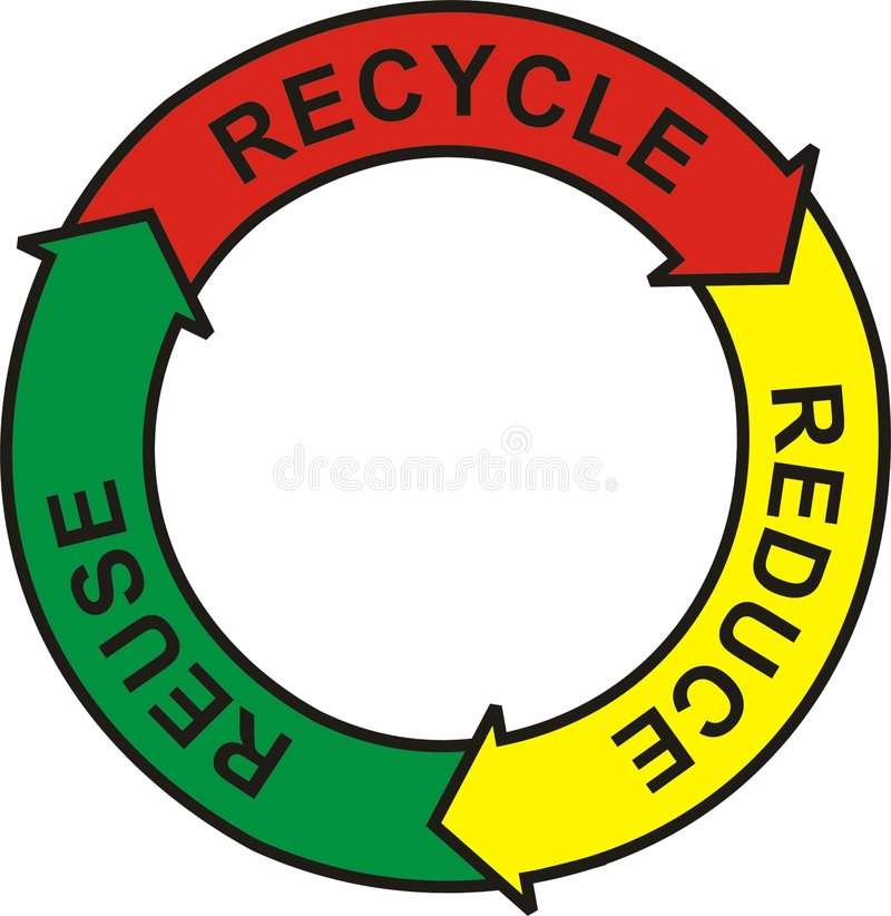 Recicle la insignia fotografía de archivo libre de regalías