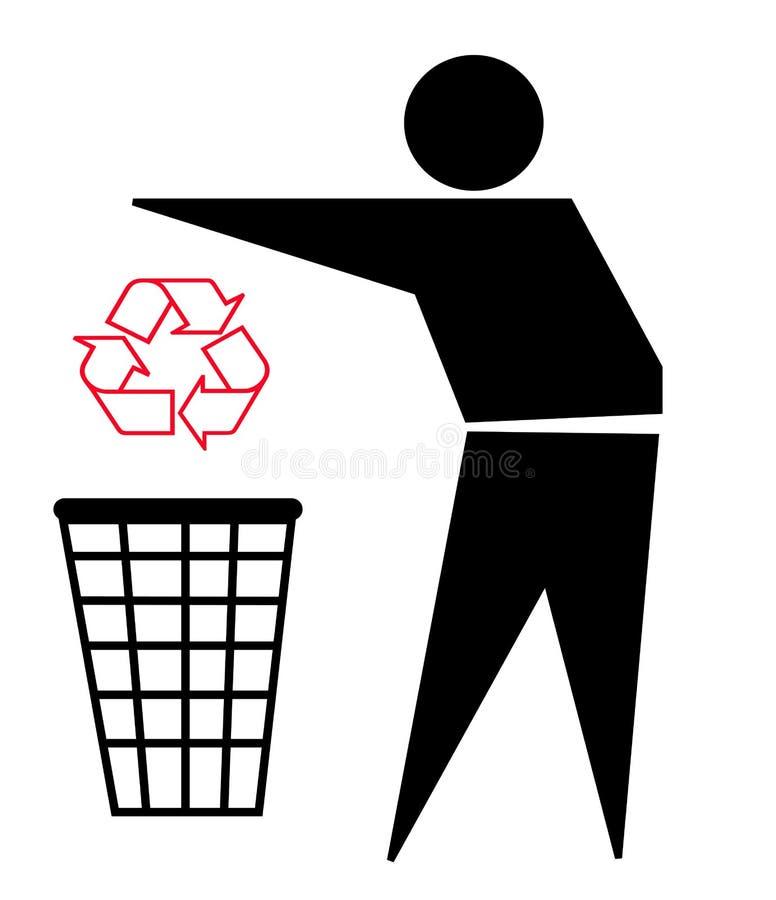 Recicle la insignia y la basura libre illustration