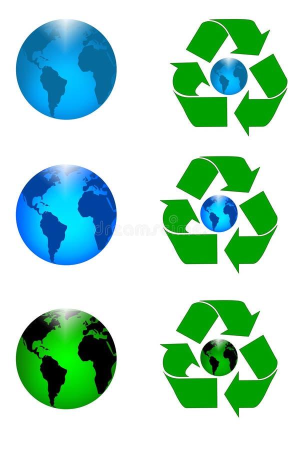Recicle la tierra ilustración del vector