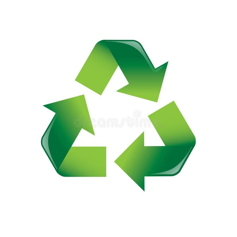 Recicle las flechas imagen de archivo