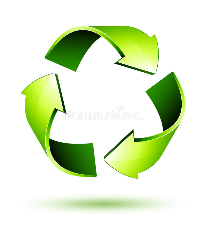 Recicle las flechas. Recicle el símbolo ilustración del vector
